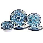 Vajilla de melamina de Talavera Certified Internacional 12piezas, multicolor