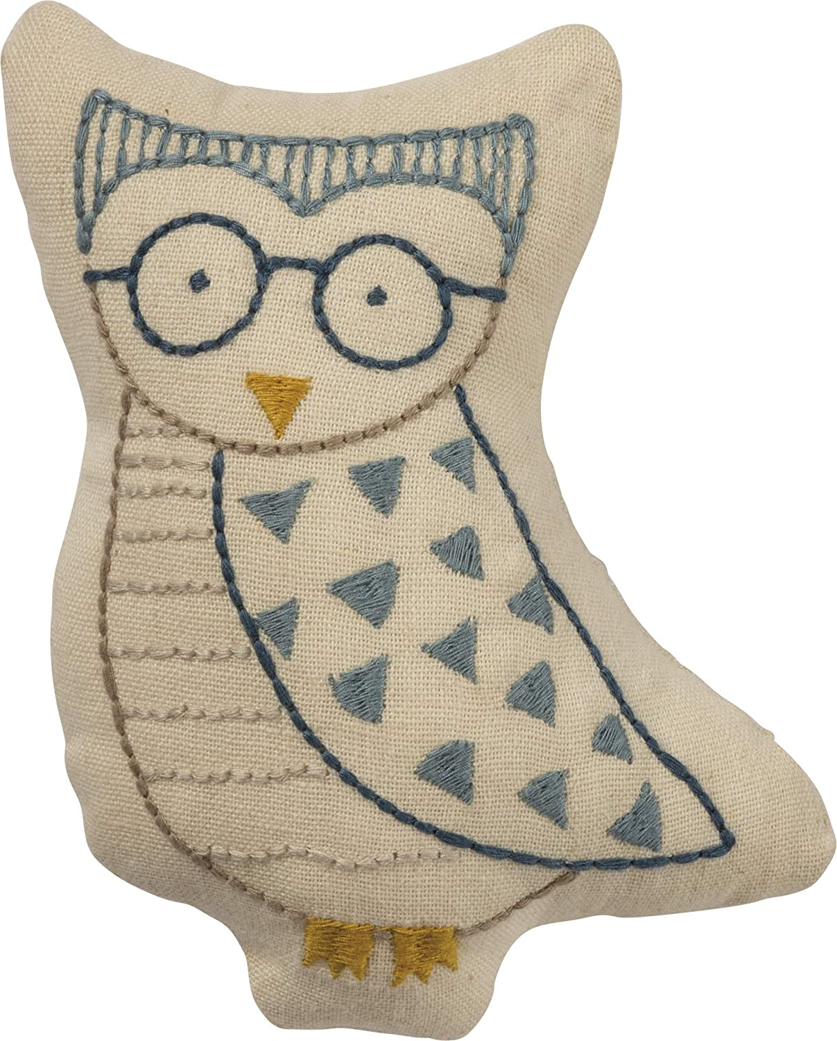 Primitives by Kathy Cotton/Linen Shaped Pillow, Small, Owl
