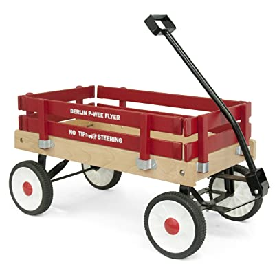Berlin F257 Amish-Made Pee-Wee Flyer Wagon, Red: Toys & Games