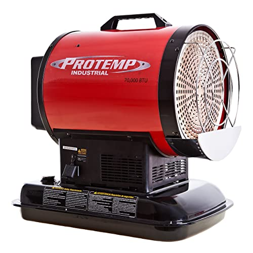 Pro-Temp PT-70-SS 70,000 Btu Kerosene Radiant Sun Stream Heater, L, Red/Black