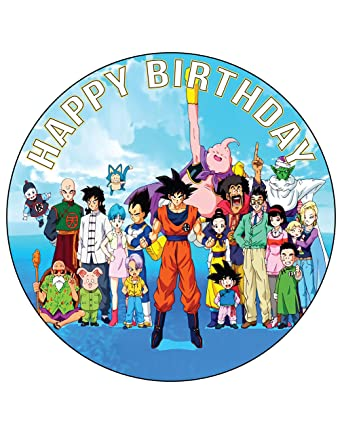 Awe Inspiring 7 5 Inch Edible Cake Toppers Dragon Ball Z Goku Themed Birthday Funny Birthday Cards Online Alyptdamsfinfo