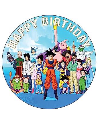 Fine 7 5 Inch Edible Cake Toppers Dragon Ball Z Goku Themed Birthday Funny Birthday Cards Online Alyptdamsfinfo