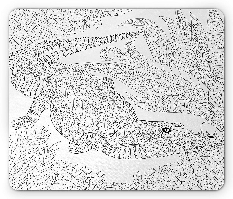 Whecom Alligator Alfombrilla Raton Gaming, Jungle Concept Reptile ...
