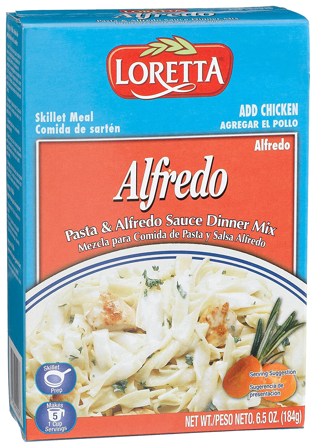 Amazon.com : Loretta Alfredo Chicken Skillet Dinner, 6.5 Ounce Boxes (Pack of 12) : Prepared Meat Dishes : Grocery & Gourmet Food