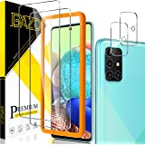 [2+2 Pack] BAZO for Samsung Galaxy A71 4G/5G/ 5G UW, Tempered Glass Screen Protector and Camera Lens Protector with Easy Inst
