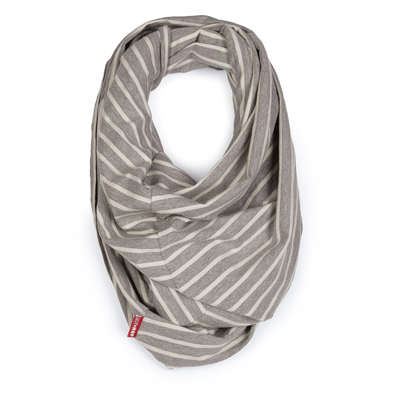 Skip Hop Grab & Go Hide & Chic Nursing Scarf, Grey Stripe 274102