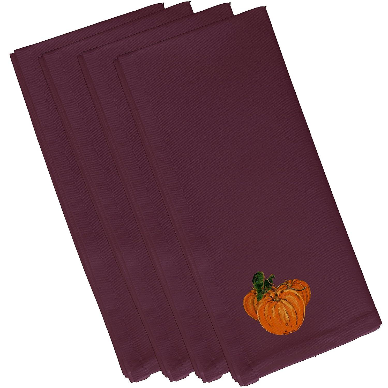 Orange E By Design N4HN330PU11-19 Tres Calabazas Holiday Print Napkin 19 x 19