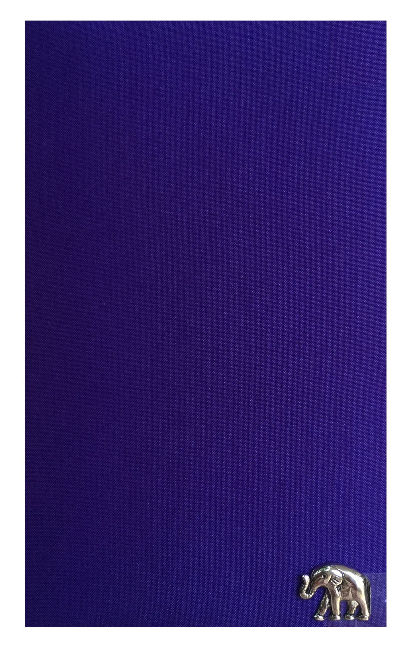 Indigo Thai Silk Blend Waitstaff Organizer, Guest Check Presenter for Server, Check Holder for Restaurant, Guest Check Book Pocket, Restaurant Server Book (With Plastic Covers)