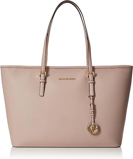 Mode Michael Kors Jet Set Travel Large Soft Rosa Handtaschen