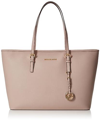 c4813b41dcf90 Michael Kors Womens Jet Set Travel Tote Pink (Soft Pink)  Amazon.co ...