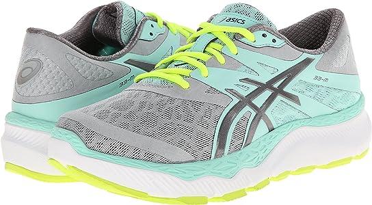 Asics 33-M Zapatillas de correr para mujer, Gris (Gris/Carbón/Menta), 35.5 EU: Amazon.es: Zapatos y complementos