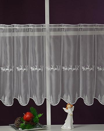 Panneau Höhe 45 cm Scheibengardine nach Maß Rentiere Lamellen Breite 14 cm