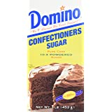 Domino Confectioners 10-x Powdered Sugar, 1 Pound Box (Pack of 2)