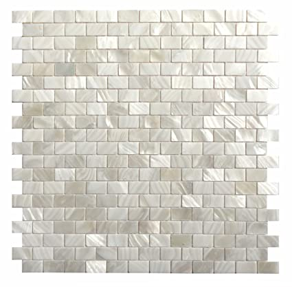 Dazzle Mosaic Mother Of Pearl Shell Mosaic Tile Backsplash Tile - 8 x 12 bathroom tiles