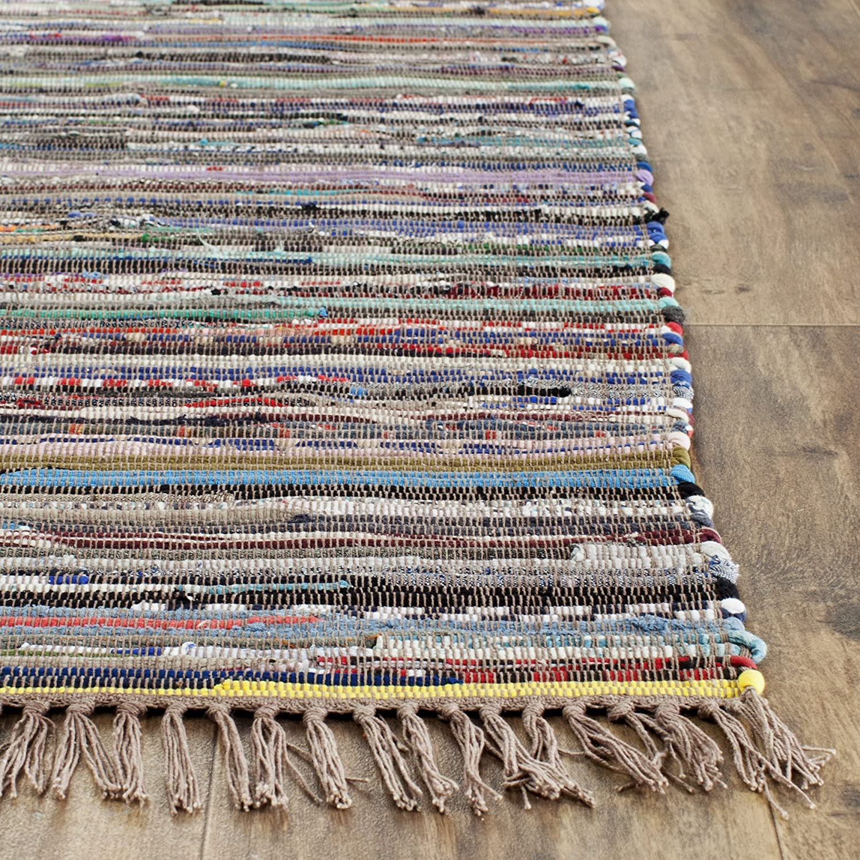 Good Amazon.com: Safavieh Rag Rug Collection RAR121E Hand Woven Rust And Multi  Cotton Area Rug (8u0027 X 10u0027): Kitchen U0026 Dining