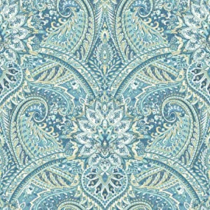 York Wallcoverings Waverly Classics II Swept Away Removable Wallpaper, Blues