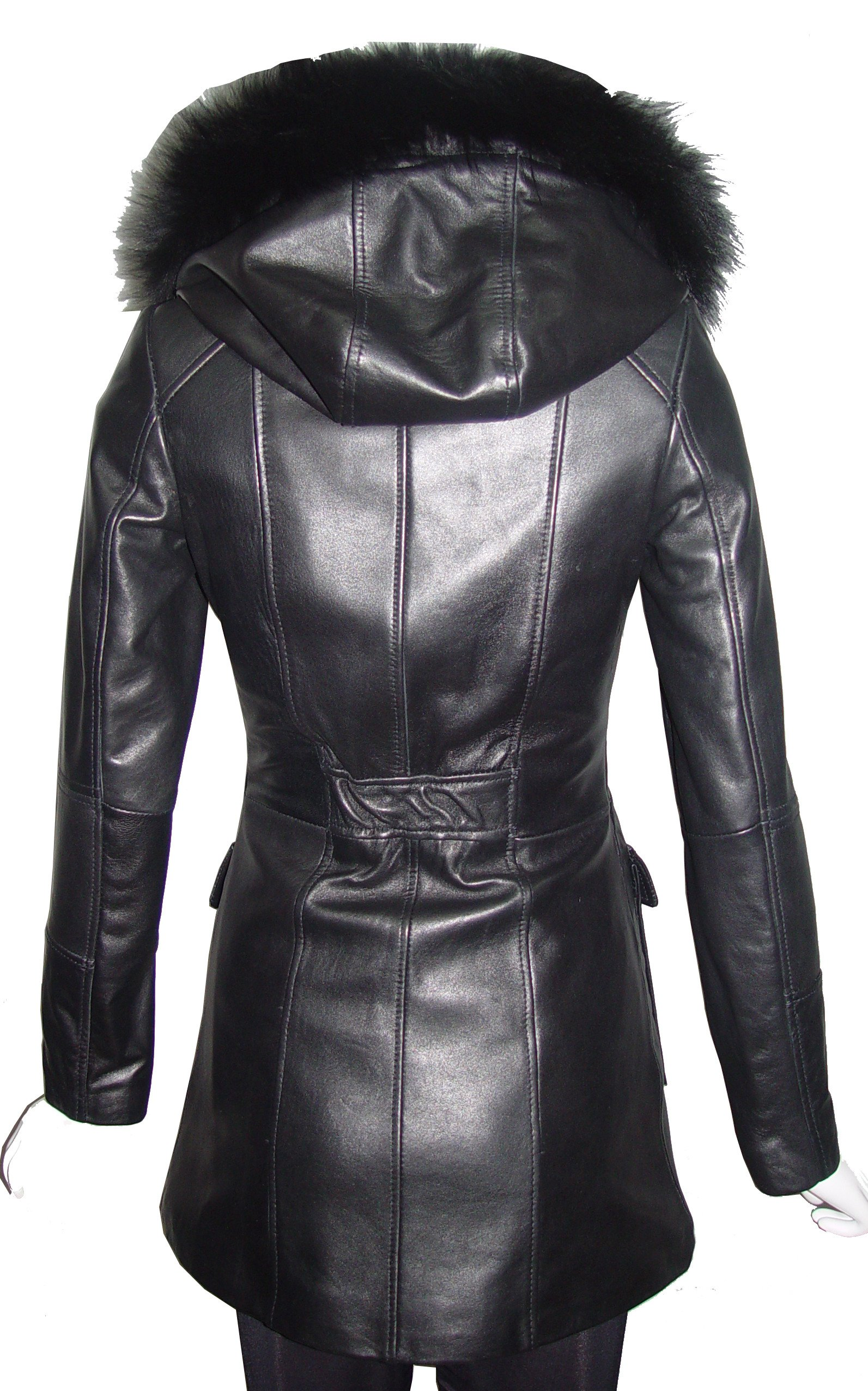 Paccilo 4 Season Wear Womens 4177 PETITE & ALL SIZELambskin Leather Parka Jacket by Paccilo (Image #5)