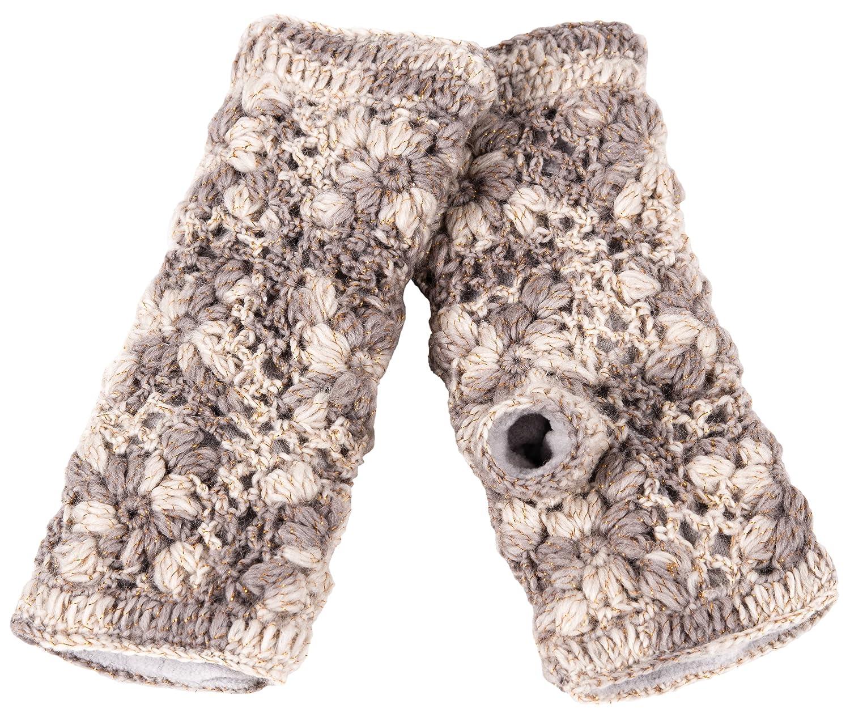 Nirvanna Designs mt13fmll Multi Farbe Blume Crochet Handwärmer