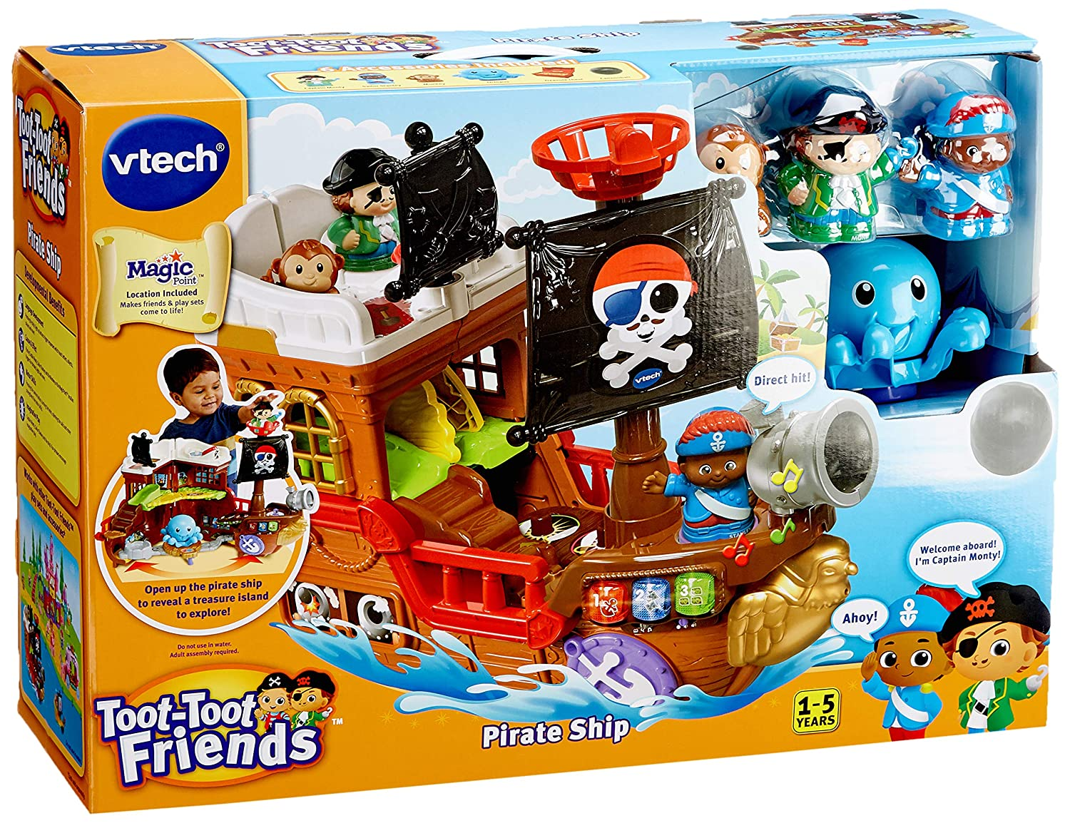 e7bd7102062 Toot-Toot Friends Kingdom Pirate Ship  Amazon.co.uk  Toys   Games