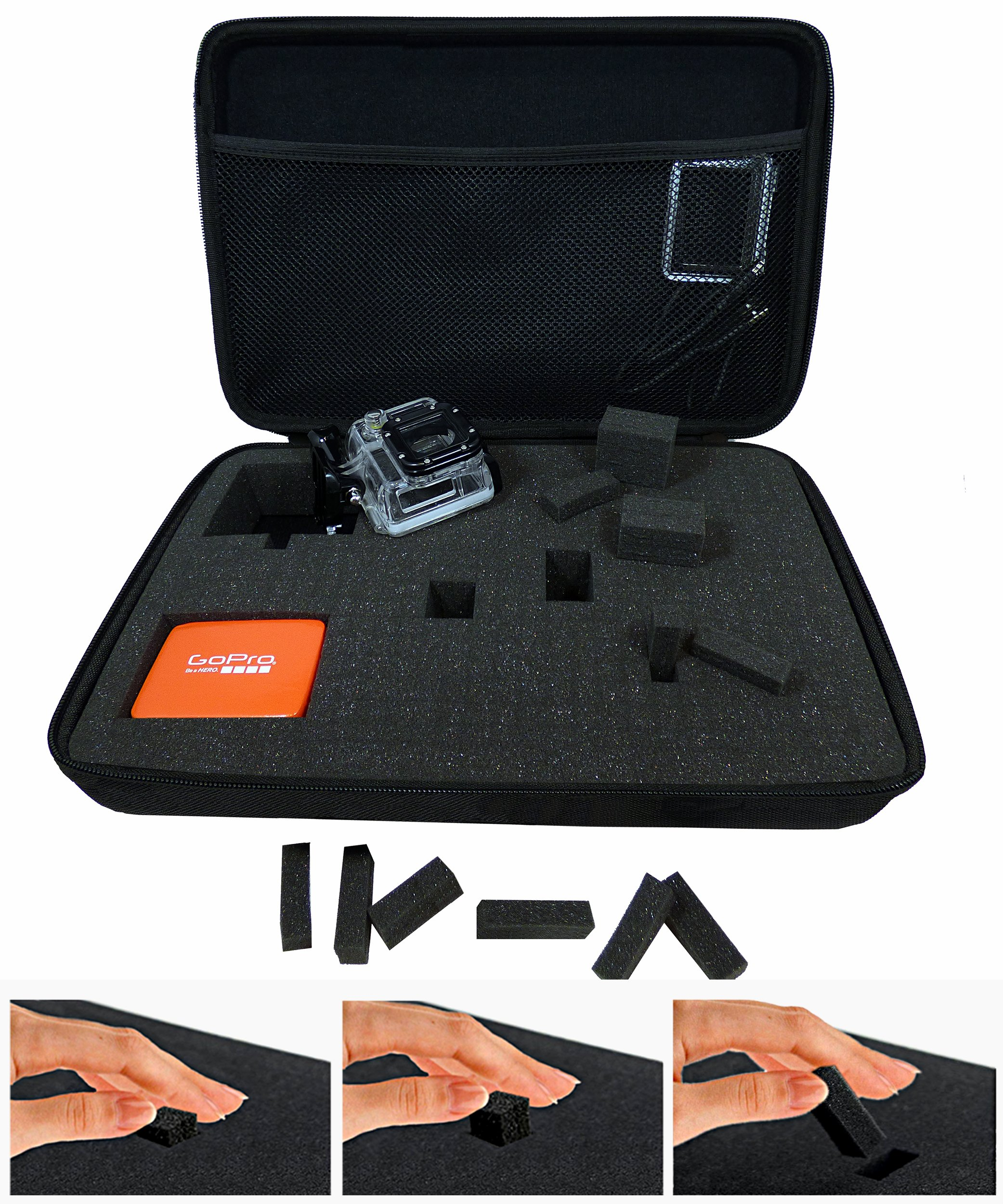 GoPro Camera Case Customized for GoPro Hero 5/4/3+/3/2/1 and Accessories - Great for Travel & Equipment Storage, Shockproof & Weather Protection, Best GoPro Camcorder Cases - Extra Large