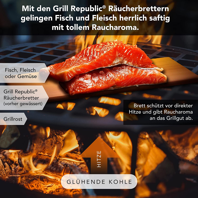 Groß 2er Set Zedernholz Grillbretter XXL Extra Stark 10 BBQ Wraps Kirsche