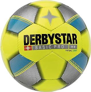 Derbystar Basic Enfant Pro Light de Futsal, Jaune Bleu Argent, 4