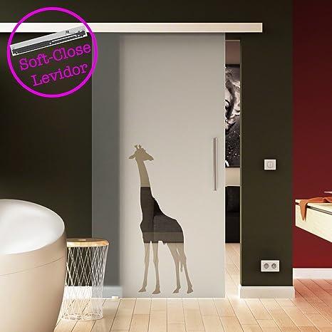 Porta scorrevole vetro 775 X 2050 mm di Giraffe Design (OFFERTA di ...