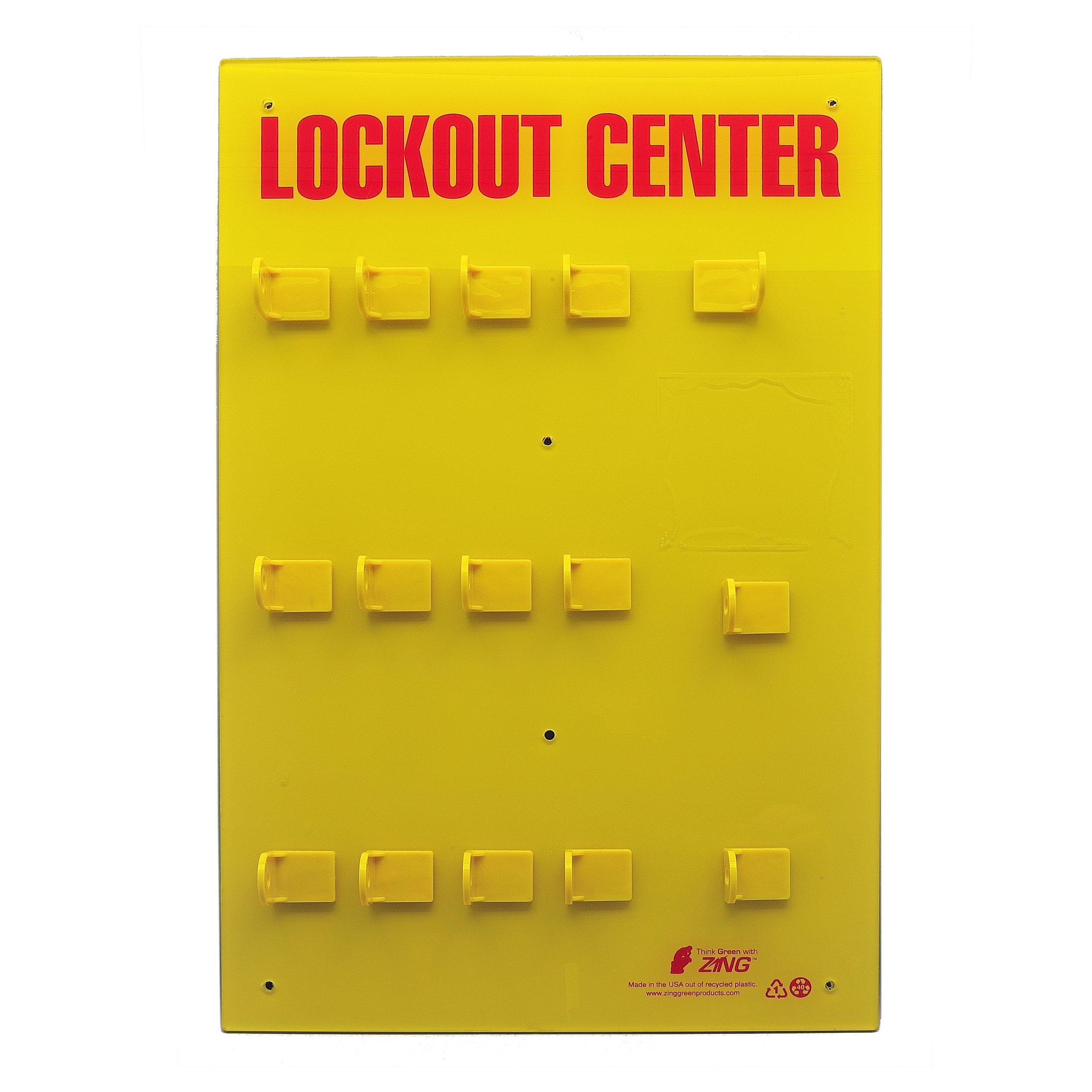 ZING 7115E RecycLockout Lockout Station, 12 Padlock, Unstocked