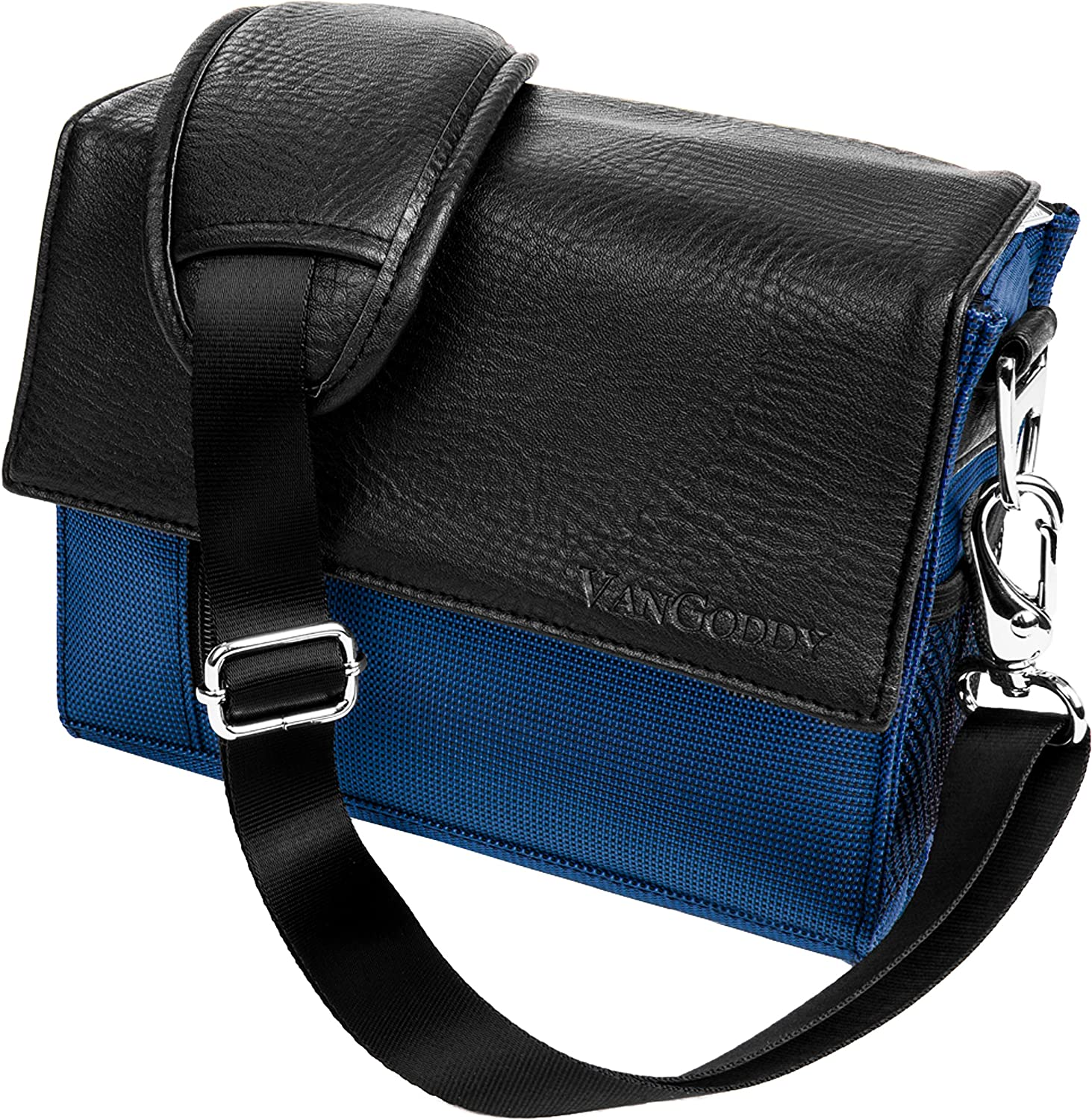 Navy Blue Crossbody Shoulder Camera Carrying Case Bag for Nikon Z50 Z7 Z6, D DL CoolPix Series