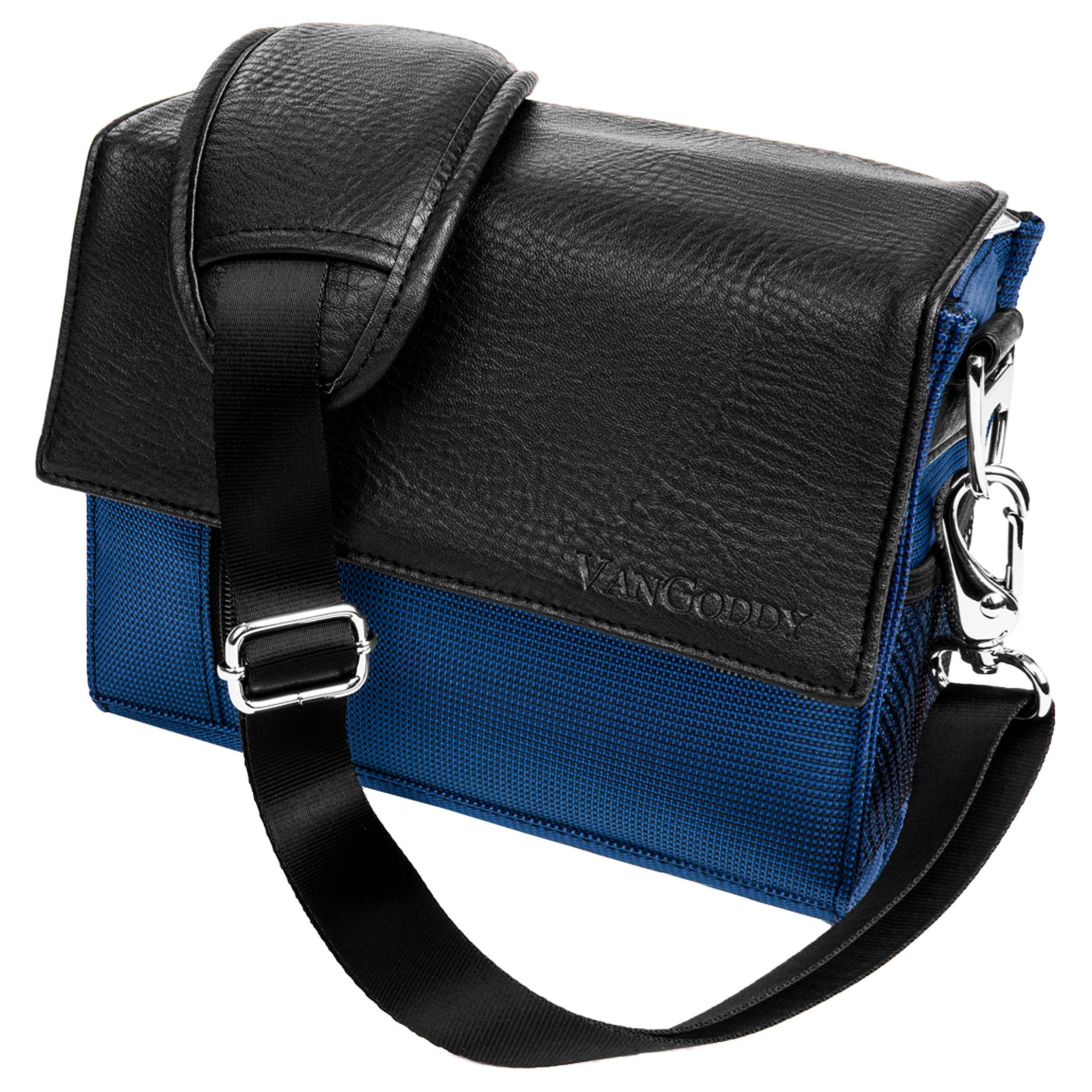 VanGoddy Metric Blue Cross Body Shoulder Camera Bag for Panasonic LUMIX Series Compact to Advanced System Camera'ss