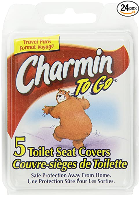 Amazon.com: Charmin To Go Toilet Seat Covers, 5-Count (Pack of 24 ...