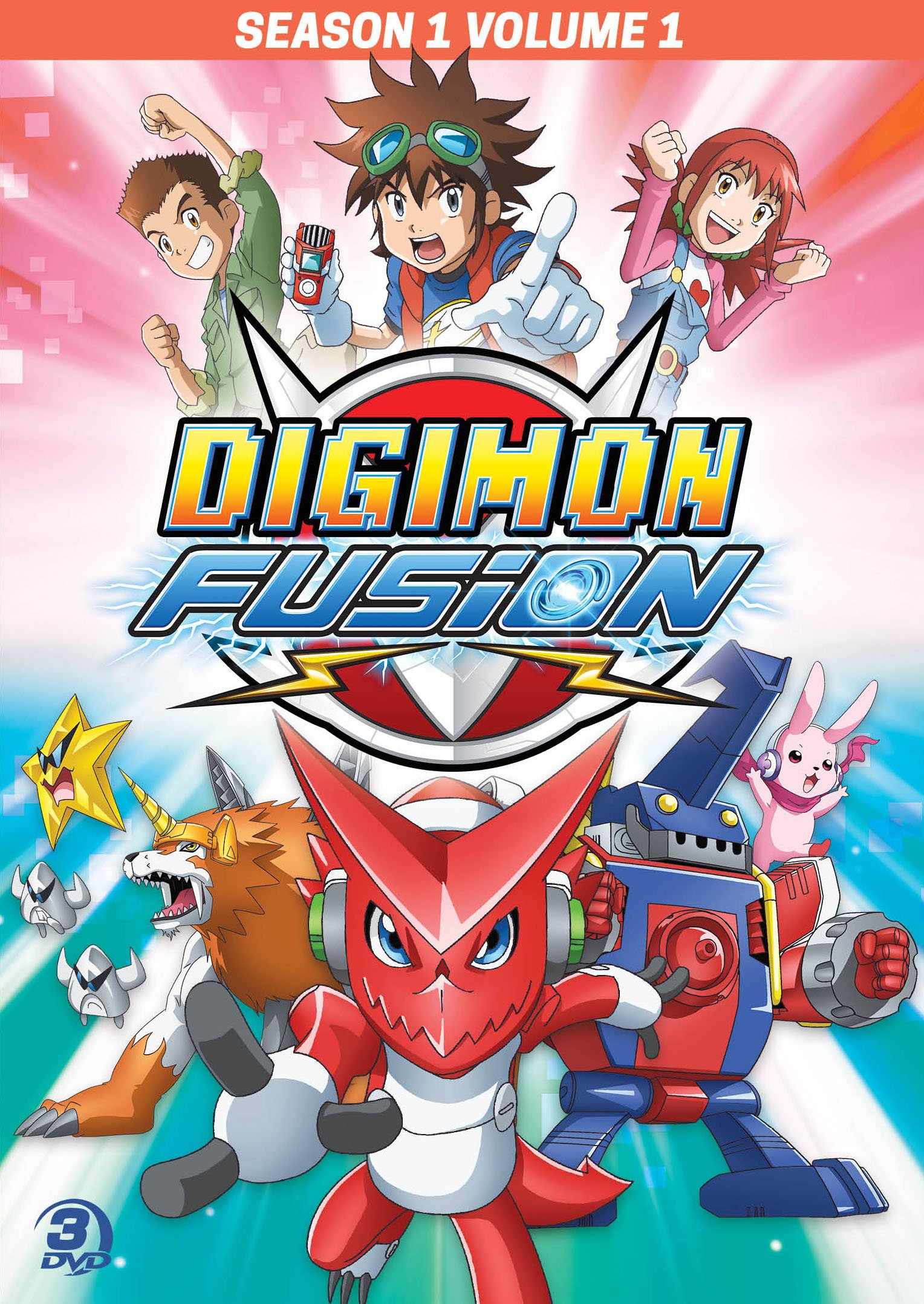 Digimon Fusion: Season 1, Vol. 1 (Widescreen, 3 Pack, 3PC)