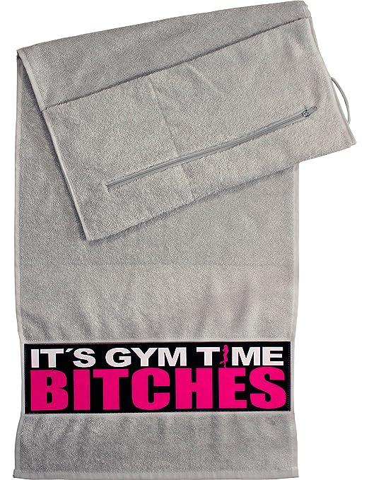 Fitness Handtuch Mit Tasche Its Gym Time Bitches Gym Handtuch