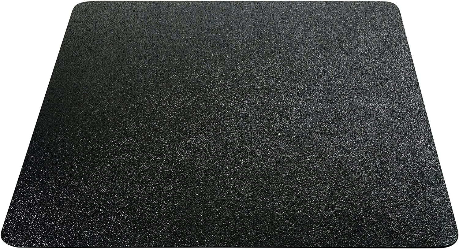 "Deflecto EconoMat Chair Mat, Non-Studded for Hard Floors, Straight Edge, 36"" x 48"", Black (CM21142BLKCOM)"