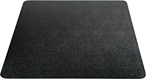 "Deflecto EconoMat Chair Mat, Non-Studded for Hard Floors, Straight Edge, 36"" x 48"", Black (CM21142BLKCOM)"