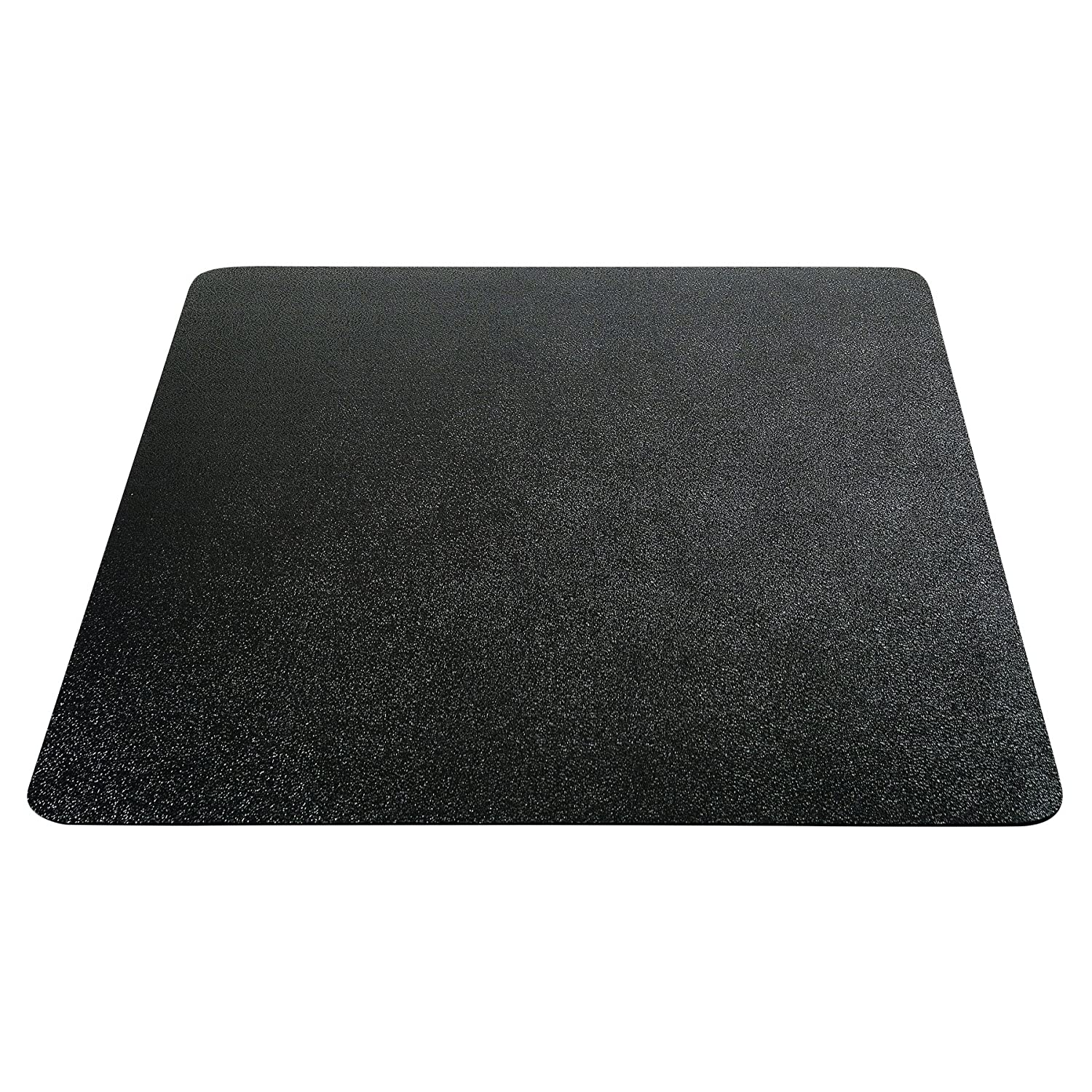 "Deflecto EconoMat Chair Mat, Non-Studded for Hard Floors, Straight Edge, 46"" x 60"", Black (CM21442FBLKCOM)"