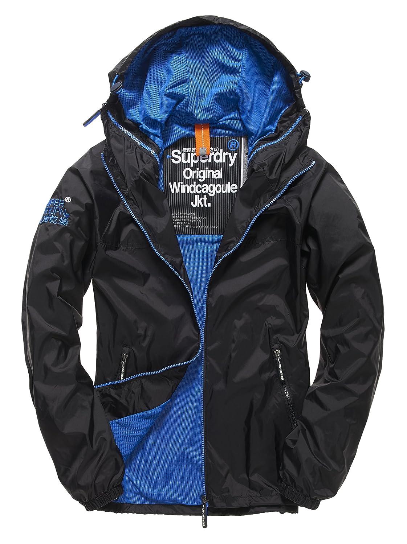 Schwarz(schwarz Royal56a) Superdry Herren Jacke Dual Zip Through Cagoule