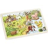 Goki - 2041637 - Puzzle En Bois À Encastrement - Les Jeunes Animaux Ii - 24 Pièces