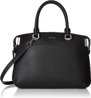 89f05e2c12 Amazon.com: Calvin Klein Key Item Raelynn Monogram Top Zip Satchel ...