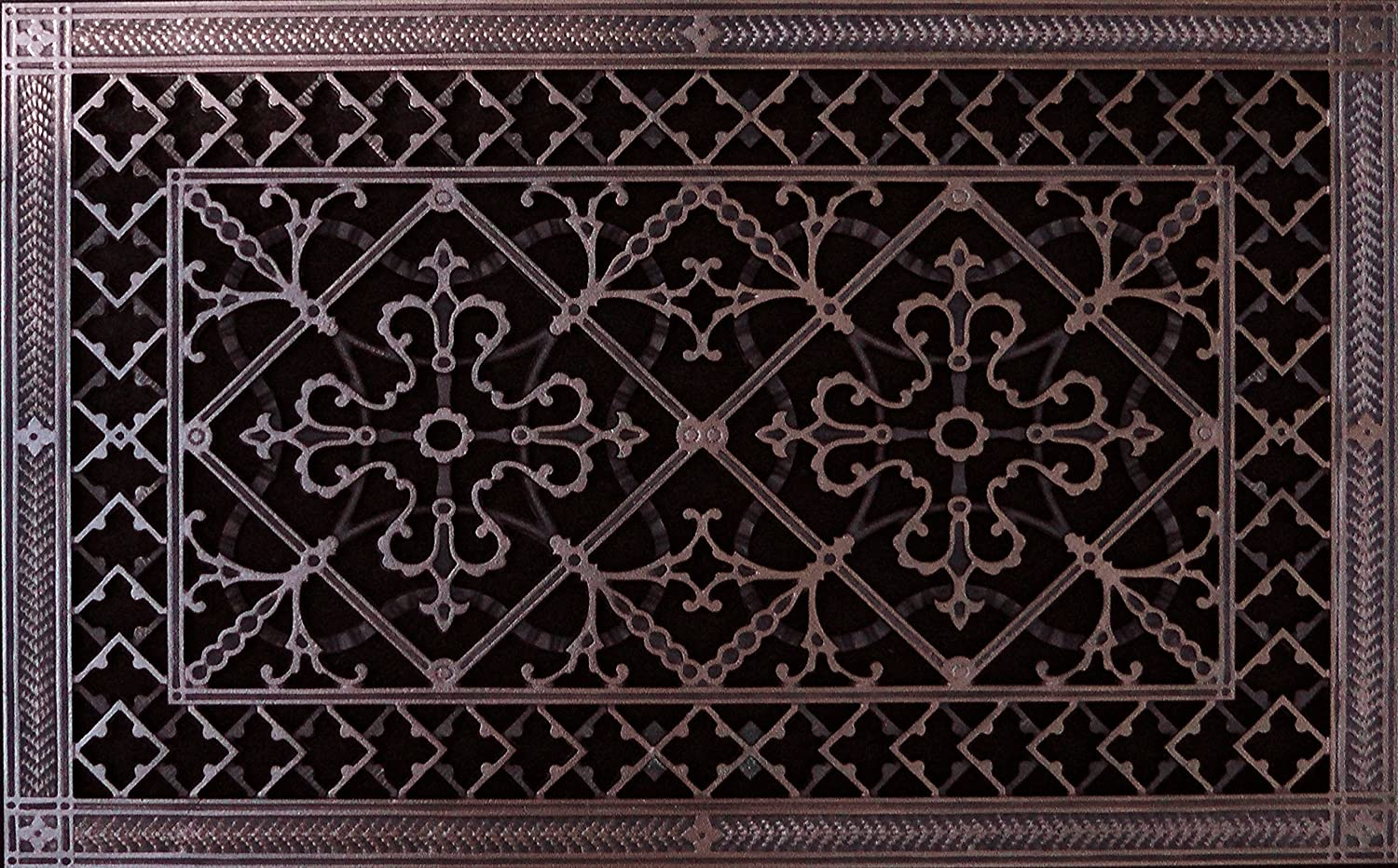"Decorative Grille, Vent, or Return Air Register. Made of Urethane Resin to  fit Over a 12""x12"" Duct or Opening. Total Size of Vent is 12""x12""x12/12"", for"