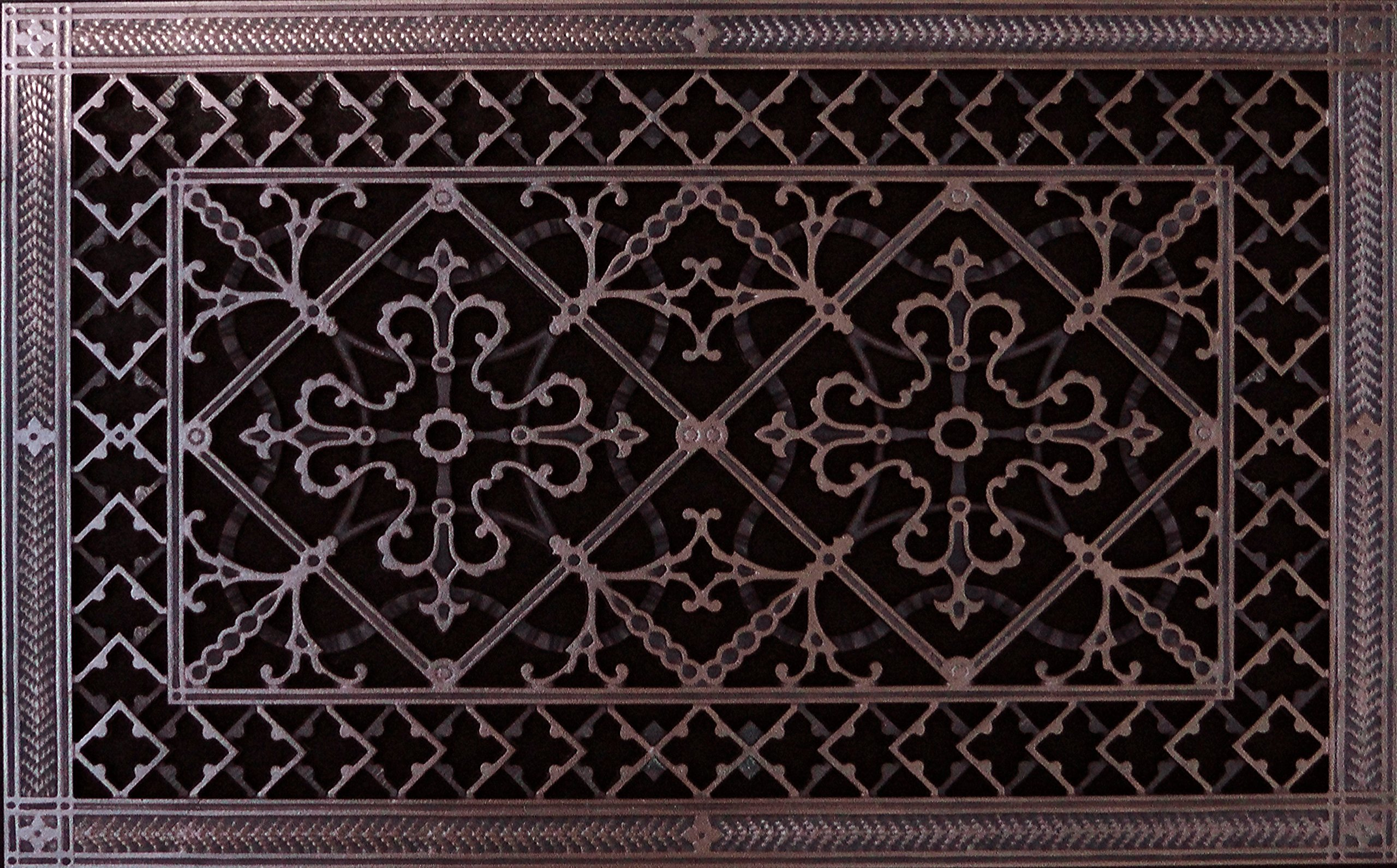 """Decorative Grille, Vent, or Return Air Register. Made of Urethane Resin to fit over a 14''x24'' duct or opening. Total size of vent is 16""""x26''x3/8'', for wall and ceiling grilles (not for floor use). by Beaux-Artes, Ltd."""