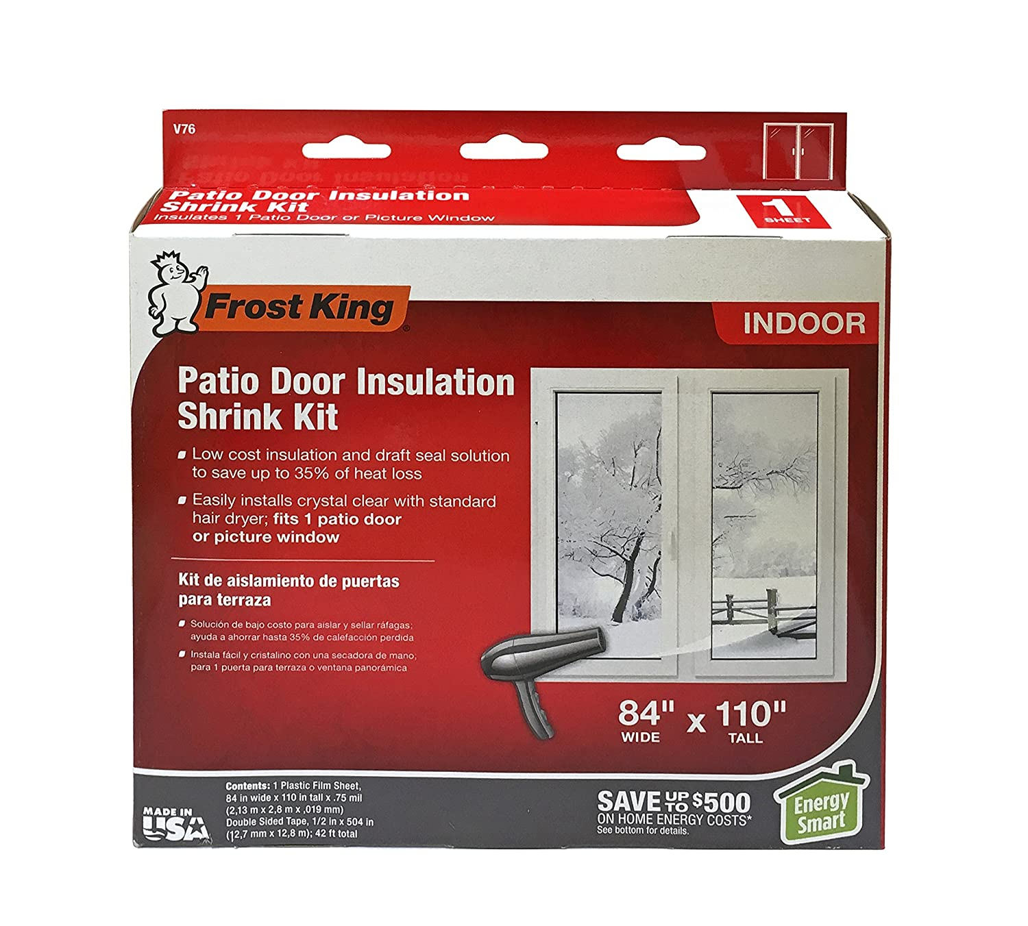 Frost King V76H Shrink Window Kit 84 Inch By 110 Inch, Clear    Weatherproofing Window Insulation Kits   Amazon.com