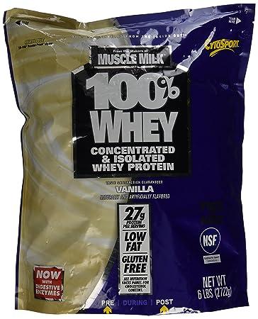 Amazoncom Cytosport 100 Whey Protein Powder Vanilla 6 Pound