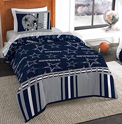 d9e9637e23c Amazon.com : The Northwest Company NFL Dallas Cowboys Twin Bed in a Bag  Complete Bedding Set #229147704 : Sports & Outdoors