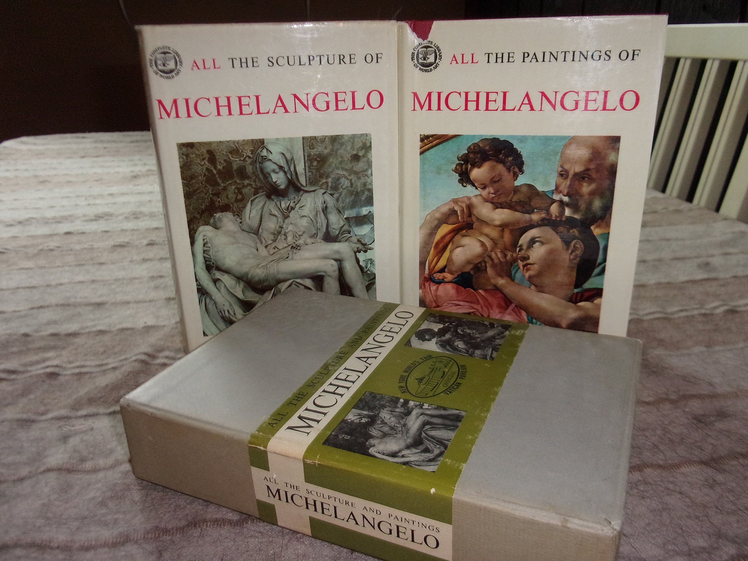 all the sculptures and paitings of michelangelo in two volumes