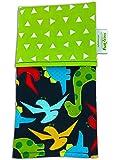 FUNKINS Reusable Cloth Napkins for Kids, PLACEMAT size, Double-Ply, Soft Cotton, DINOSAURS