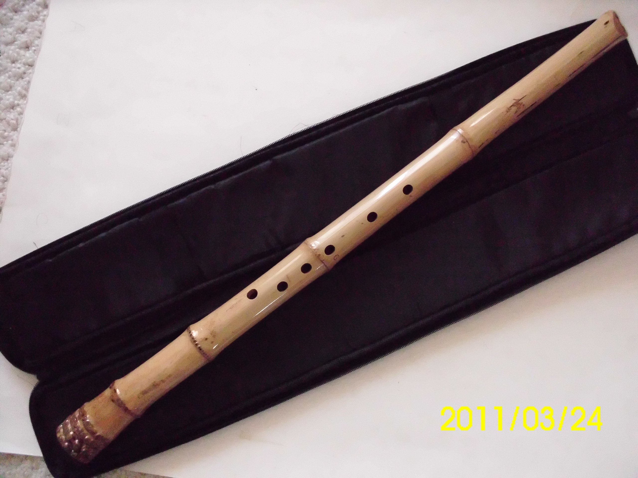 7 Hole Shakuhachi Dongxiao Bamboo Flute G Key Zen Instrument Kinko