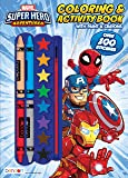 Marvel Super Hero Adventures 128-Page Coloring Book with Paints and Crayons 47528