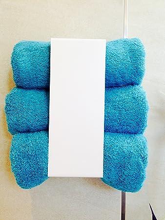 Handtuchregal Handtuchhalter Regal Bad Metall weiß ohne bohren ...
