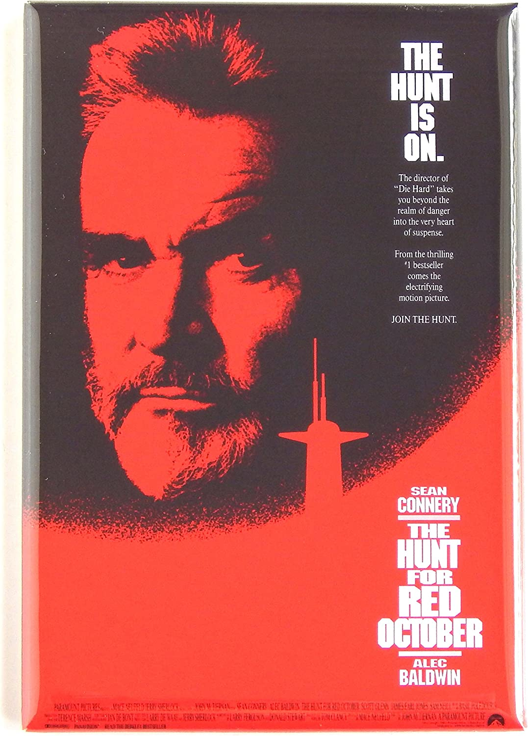 The Hunt for Red October Movie Poster Fridge Magnet (2 x 3 inches)